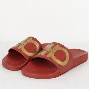 Salvatore Ferragamo Sandals Slides 6 Red GROOVE